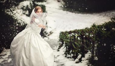 Свадебное платье для зимнего торжества