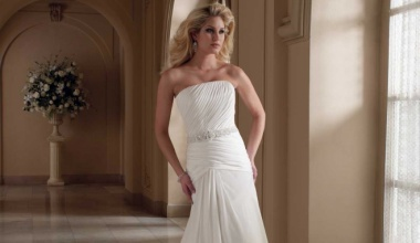 Свадебные платья Ампир: эффектность и изысканность