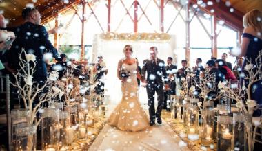 5 интересных идей для украшения зимней свадьбы